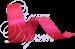 Лента атласная ярко розовая
