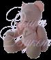 Мишка розовый 30 см