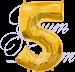 Шарик цифра 5 с гелием