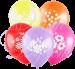 Воздушный шарик с гелием, цветы, 30 см